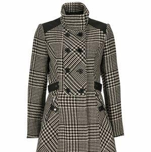Plaid Houndstooth Coat